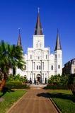 Retrato da catedral de Nova Orleães St Louis Fotos de Stock