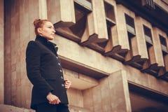 Retrato da cidade da menina Foto de Stock