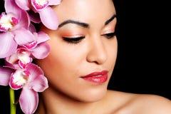 Retrato da composição da beleza Imagens de Stock