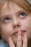 Retrato da cor da menina Imagens de Stock