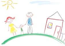 Retrato da criança ilustração royalty free