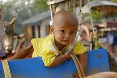 Retrato da criança burmese Imagem de Stock Royalty Free