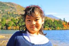 Retrato da criança de sorriso do Malay de A Imagem de Stock