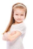 Retrato da criança pré-escolar bonita imagem de stock