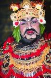 Retrato da dan?a de Jauk uma dan?a tradicional do Balinese, Indon?sia fotos de stock