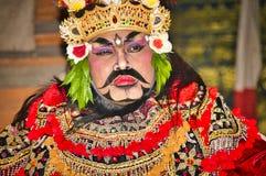 Retrato da dan?a de Jauk uma dan?a tradicional do Balinese, Indon?sia foto de stock