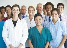 Retrato da equipa médica foto de stock royalty free
