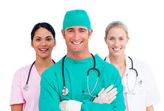 Retrato da equipa médica ambiciosa fotos de stock royalty free