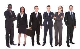 Retrato da equipe confiável do negócio Fotografia de Stock Royalty Free