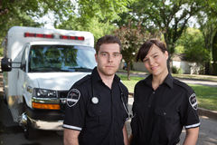 Retrato da equipe do paramédico Fotos de Stock Royalty Free