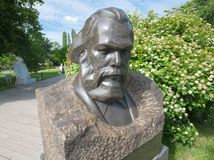 Retrato da escultura de Karl Marx Fotografia de Stock Royalty Free