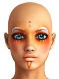 Retrato da fêmea da fantasia Imagens de Stock