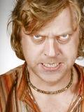 Retrato da face do homem do medo Fotos de Stock Royalty Free