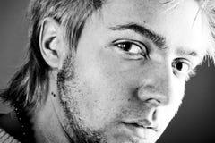 Retrato da face do homem novo Foto de Stock