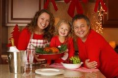 Retrato da família do feriado do Natal Fotos de Stock