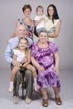 Retrato da família do grupo Imagens de Stock Royalty Free