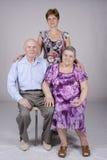 Retrato da família do grupo Fotografia de Stock Royalty Free