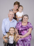 Retrato da família do grupo Fotos de Stock