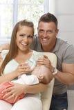 Retrato da família feliz Fotos de Stock