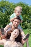Retrato da família feliz nova Imagem de Stock