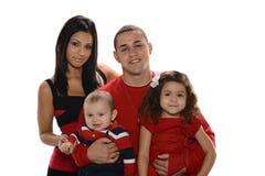 Retrato da família latino-americano imagem de stock royalty free