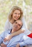 Retrato da família positiva madura Imagens de Stock Royalty Free