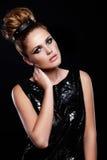 Modelo novo caucasiano à moda 'sexy' imagem de stock