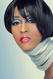 Retrato da forma da beleza fotografia de stock