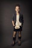 Retrato da forma da beleza da menina, criança de sorriso mim fotografia de stock
