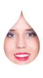 Retrato da forma da gota da água Fotografia de Stock Royalty Free