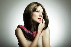 Retrato da forma da mulher nova Foto de Stock Royalty Free