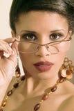 Retrato da forma de uma menina étnica Imagens de Stock Royalty Free