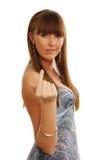 Retrato da forma de uma menina bonita foto de stock royalty free