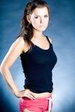 Retrato da forma de uma mulher Imagem de Stock