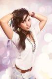 Retrato da forma do borracho latino-americano 'sexy' Imagens de Stock