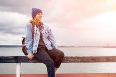 Retrato da foto atmosférica exterior do estilo de vida fotos de stock royalty free