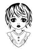Retrato da imagem de uma menina ilustração royalty free