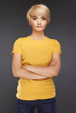 Retrato da jovem mulher Fotos de Stock Royalty Free