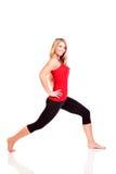 Retrato da jovem mulher bonita que faz o exercício Imagem de Stock Royalty Free