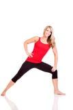 Retrato da jovem mulher bonita que faz o exercício Foto de Stock