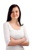 Retrato da jovem mulher foto de stock royalty free