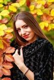 Retrato da jovem mulher na cor do outono Imagens de Stock