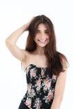 Retrato da jovem mulher no espartilho Fotos de Stock Royalty Free