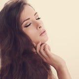 Retrato da luz suave da arte da mulher bonita Fotos de Stock Royalty Free
