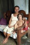 Retrato da mãe e da criança com Síndrome de Down Imagem de Stock Royalty Free