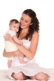 retrato da mamã e do bebê Fotografia de Stock Royalty Free