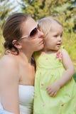 Retrato da matriz e da filha. Fotografia de Stock Royalty Free