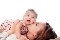 Retrato da matriz e do bebê Imagens de Stock