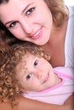 Retrato da matriz e do bebê felizes Imagens de Stock