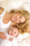 Retrato da matriz e do filho Foto de Stock